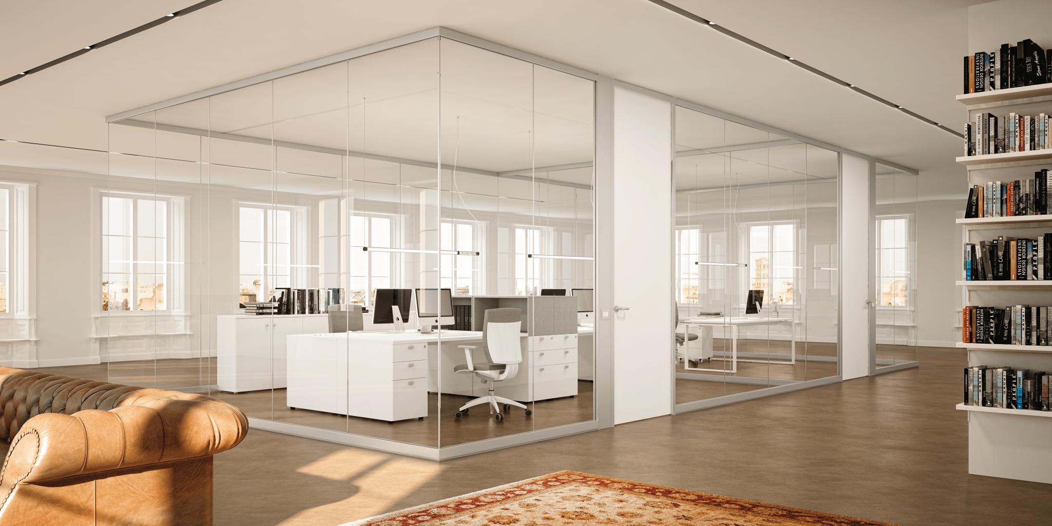 Pareti attrezzate e divisorie for Progetta i tuoi mobili per ufficio