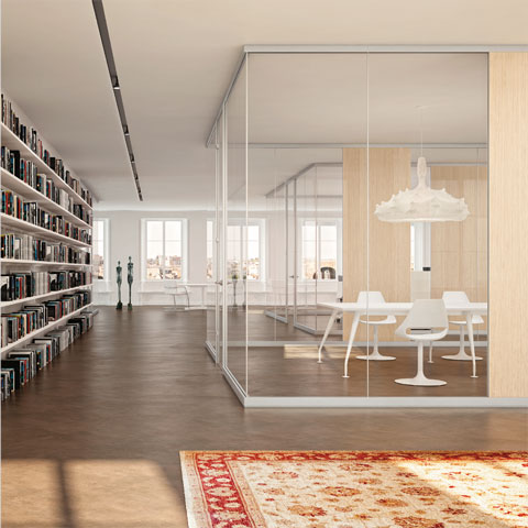 Pareti divisorie per ufficio in vetro for Divisori in vetro per ufficio prezzi