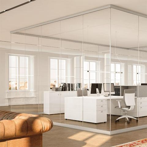 pareti divisorie per ufficio in vetro - Pareti Mobili Prezzi