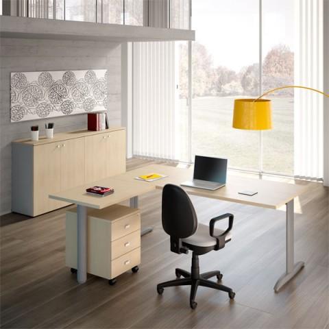 Scrivanie ufficio angolare for Mobile reception ufficio