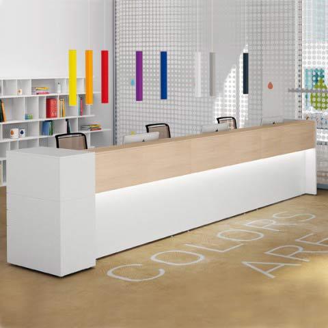 Bancone reception avant lineare for Reception da ufficio