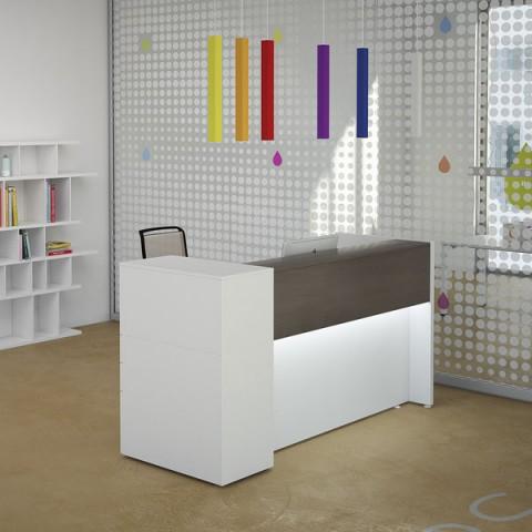 Scrivanie ufficio moderne linekit for Mobili per reception