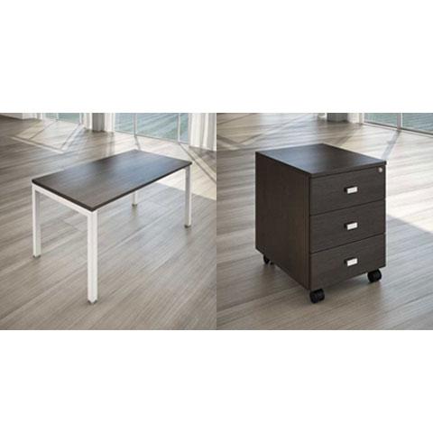 Elegant scrivania per ufficio cassettiera per ufficio with for Cassettiera ufficio economica