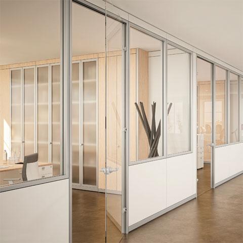Class e Trend: pareti divisorie per ufficio