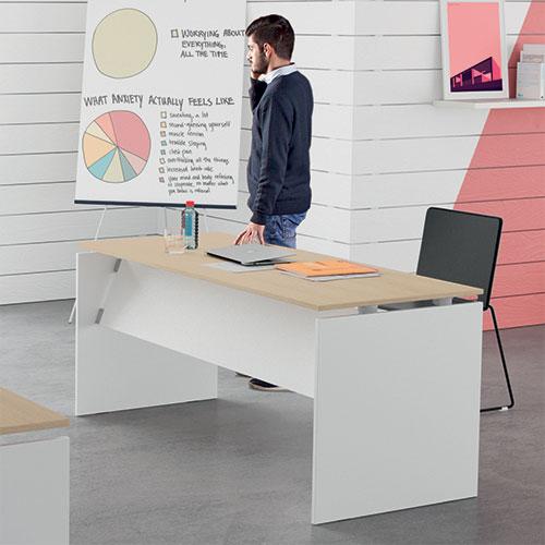 Scrivania ufficio a montaggio rapido linekit for Scrivania economica ufficio