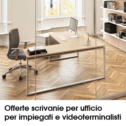 offerte scrivanie per ufficio per impiegati e