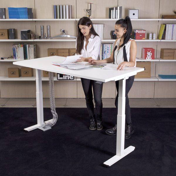 Altezza Scrivania Ufficio Normativa.Scrivania Up Down Regolabile In Altezza Sit Stand