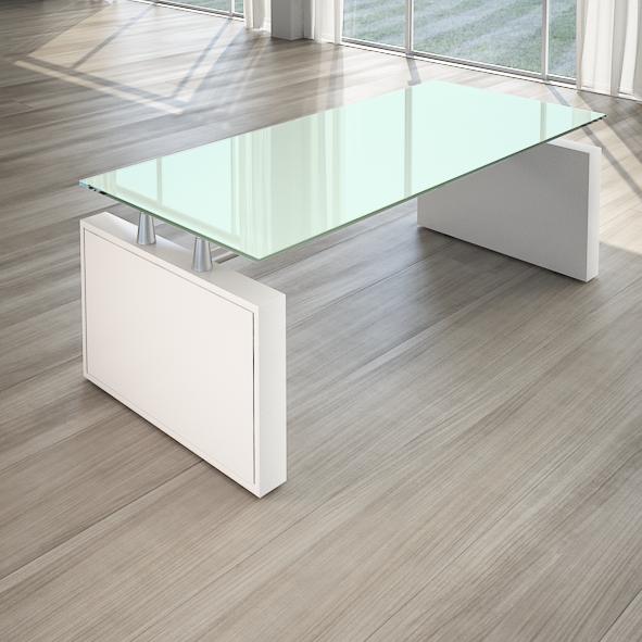 Scrivania direzionale giano metal cristallo salone ufficio for Scrivania direzionale