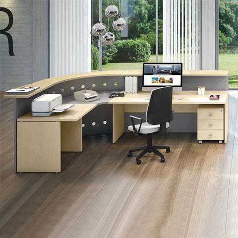 reception linux con scrivania raccordo angolare 90
